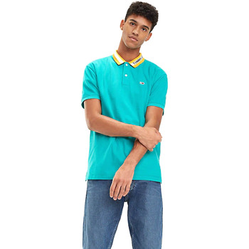 tekstylia Męskie Koszulki polo z krótkim rękawem Tommy Hilfiger DM0DM06022 Niebieski