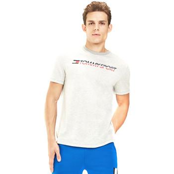 tekstylia Męskie T-shirty z krótkim rękawem Tommy Hilfiger S20S200051 Szary