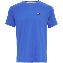 tekstylia Męskie T-shirty z krótkim rękawem Tommy Hilfiger S20S200074 Niebieski