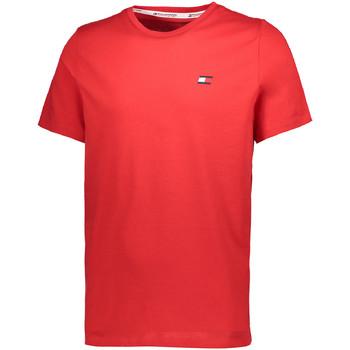 tekstylia Męskie T-shirty z krótkim rękawem Tommy Hilfiger S20S200074 Czerwony