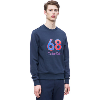 tekstylia Męskie Bluzy Calvin Klein Jeans K10K102981 Niebieski