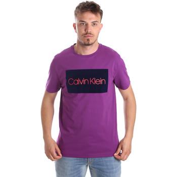 tekstylia Męskie T-shirty z krótkim rękawem Calvin Klein Jeans K10K103012 Fioletowy
