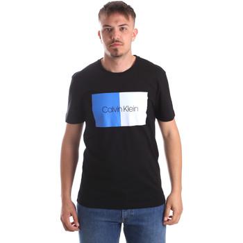 tekstylia Męskie T-shirty z krótkim rękawem Calvin Klein Jeans K10K103497 Czarny