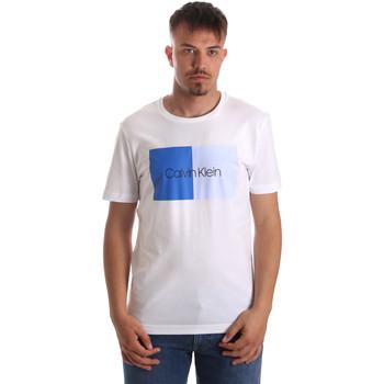 tekstylia Męskie T-shirty z krótkim rękawem Calvin Klein Jeans K10K103497 Biały