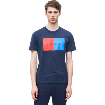tekstylia Męskie T-shirty z krótkim rękawem Calvin Klein Jeans K10K103497 Niebieski