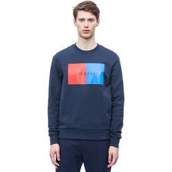 tekstylia Męskie Bluzy Calvin Klein Jeans K10K103498 Niebieski