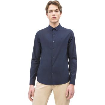 tekstylia Męskie Koszule z długim rękawem Calvin Klein Jeans J30J312439 Niebieski