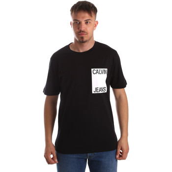 tekstylia Męskie T-shirty z krótkim rękawem Calvin Klein Jeans J30J311326 Czarny