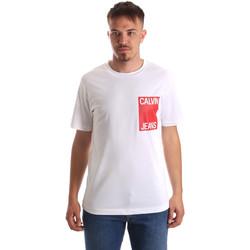 tekstylia Męskie T-shirty z krótkim rękawem Calvin Klein Jeans J30J311326 Biały