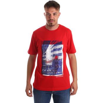 tekstylia Męskie T-shirty z krótkim rękawem Calvin Klein Jeans J30J312285 Czerwony