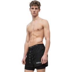 tekstylia Męskie Kostiumy / Szorty kąpielowe Calvin Klein Jeans KM0KM00298 Czarny