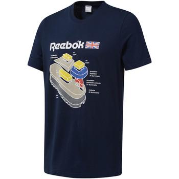 tekstylia Męskie T-shirty z krótkim rękawem Reebok Sport DT9445 Niebieski