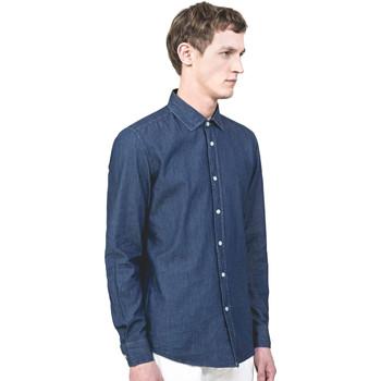 tekstylia Męskie Koszule z długim rękawem Antony Morato MMSL00520 FA440019 Niebieski