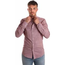 tekstylia Męskie Koszule z długim rękawem Antony Morato MMSL00526 FA430360 Czerwony