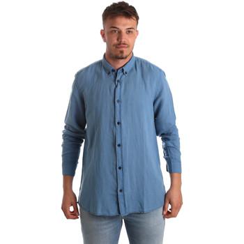tekstylia Męskie Koszule z długim rękawem Antony Morato MMSL00530 FA400051 Niebieski