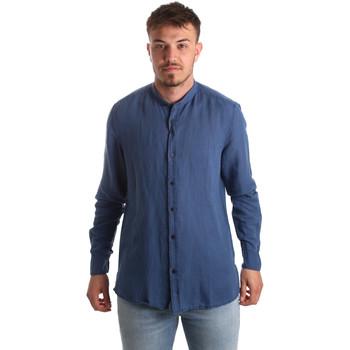 tekstylia Męskie Koszule z długim rękawem Antony Morato MMSL00547 FA400051 Niebieski