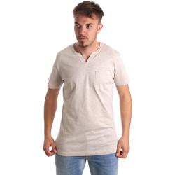 tekstylia Męskie T-shirty z krótkim rękawem Antony Morato MMKS01487 FA100139 Beżowy