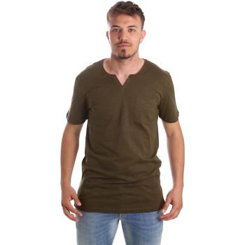 tekstylia Męskie T-shirty z krótkim rękawem Antony Morato MMKS01487 FA100139 Zielony