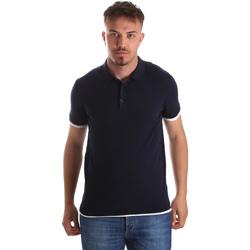 tekstylia Męskie Koszulki polo z krótkim rękawem Gaudi 911FU53006 Niebieski