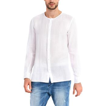 tekstylia Męskie Koszule z długim rękawem Gaudi 911BU45002 Biały