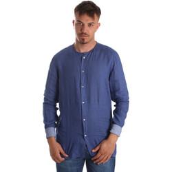tekstylia Męskie Koszule z długim rękawem Gaudi 911BU45002 Niebieski
