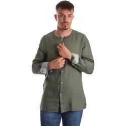 tekstylia Męskie Koszule z długim rękawem Gaudi 911BU45002 Zielony
