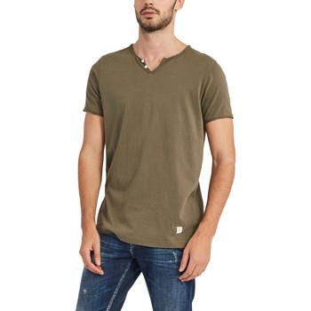 tekstylia Męskie T-shirty z krótkim rękawem Gaudi 911BU64024 Zielony