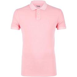 tekstylia Męskie Koszulki polo z krótkim rękawem Wrangler W7C15K Różowy