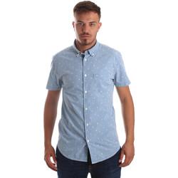tekstylia Męskie Koszule z krótkim rękawem Wrangler W59446 Niebieski