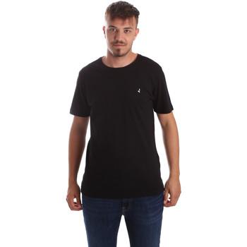 tekstylia Męskie T-shirty z krótkim rękawem Navigare NV31069 Czarny