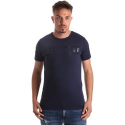 tekstylia Męskie T-shirty z krótkim rękawem Navigare NV31081 Niebieski