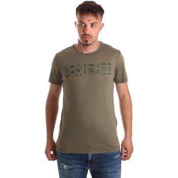 tekstylia Męskie T-shirty z krótkim rękawem Navigare NV31081 Zielony