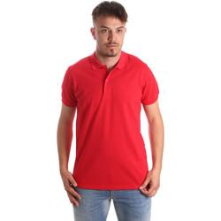 tekstylia Męskie Koszulki polo z krótkim rękawem Navigare NV82001 Czerwony