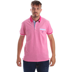 tekstylia Męskie Koszulki polo z krótkim rękawem Navigare NV82092 Różowy