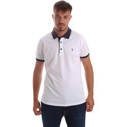 tekstylia Męskie Koszulki polo z krótkim rękawem Navigare NV82097 Biały