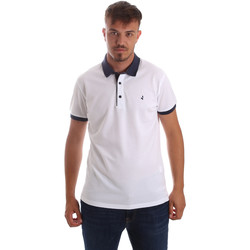 tekstylia Męskie Koszulki polo z krótkim rękawem Navigare NV82097AD Biały