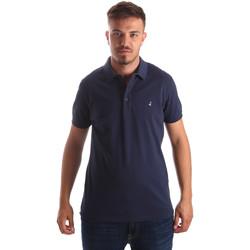 tekstylia Męskie Koszulki polo z krótkim rękawem Navigare NV82097AD Niebieski