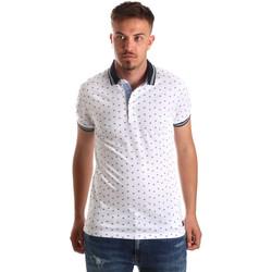 tekstylia Męskie Koszulki polo z krótkim rękawem Navigare NV82099 Biały