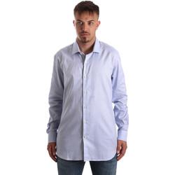 tekstylia Męskie Koszule z długim rękawem Navigare NV90005 FR Niebieski