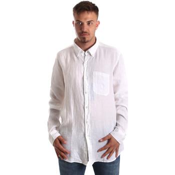 tekstylia Męskie Koszule z długim rękawem Navigare NV92067 BD Biały