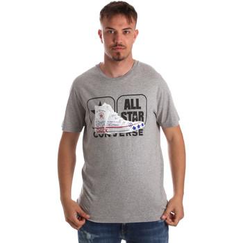 tekstylia Męskie T-shirty z krótkim rękawem Converse 10017575-A01 Szary