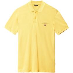 tekstylia Męskie Koszulki polo z krótkim rękawem Napapijri N0YIJ5 Żółty