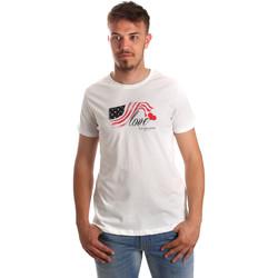 tekstylia Męskie T-shirty z krótkim rękawem U.S Polo Assn. 51520 51655 Biały