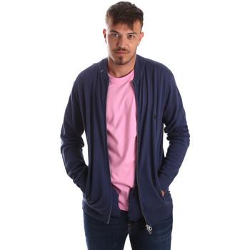 tekstylia Męskie Swetry rozpinane / Kardigany U.S Polo Assn. 51727 51433 Niebieski