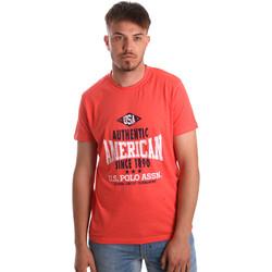 tekstylia Męskie T-shirty z krótkim rękawem U.S Polo Assn. 52231 51331 Pomarańczowy