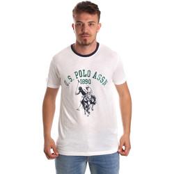 tekstylia Męskie T-shirty z krótkim rękawem U.S Polo Assn. 52465 51334 Biały