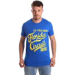 tekstylia Męskie T-shirty z krótkim rękawem U.S Polo Assn. 49351 51340 Niebieski