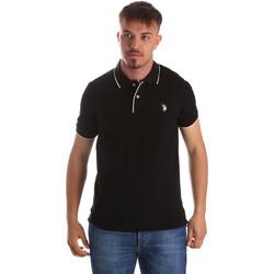 tekstylia Męskie Koszulki polo z krótkim rękawem U.S Polo Assn. 50336 51263 Czarny