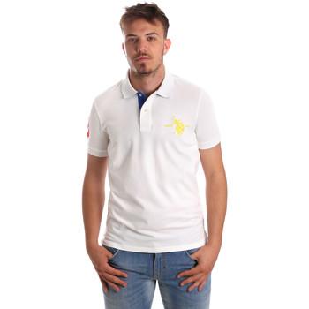 tekstylia Męskie Koszulki polo z krótkim rękawem U.S Polo Assn. 50336 51267 Biały