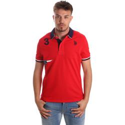 tekstylia Męskie Koszulki polo z krótkim rękawem U.S Polo Assn. 41029 51252 Czerwony